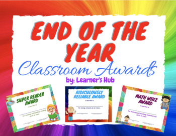 Preschool Classroom Awards