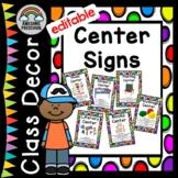 Preschool Classroom Center Signs - Back to School