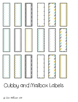 Preschool Classroom Labels