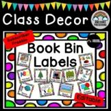 Preschool Classroom Library Book Bin / Basket Labels - Bac