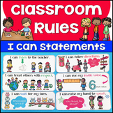 Illustrated I Can Statement Classroom Rules