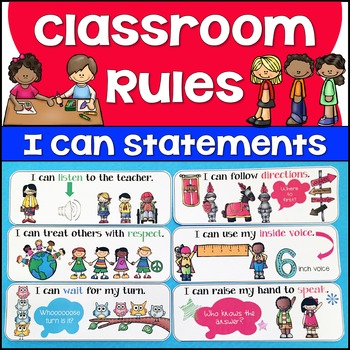 Illustrated I Can Statement Classroom Rules by Jason's ...
