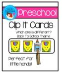 Preschool Clip It Cards - Back To School Theme
