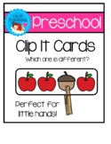 Preschool Clip It Cards - Which One Is Different?