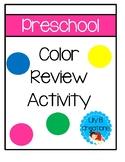 Preschool Color Review - Freebie #7