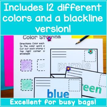 Preschool Color Sorting Activity - Multicolor Mail!