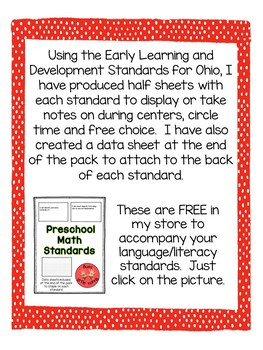 Preschool Language and Literacy Standards (color)