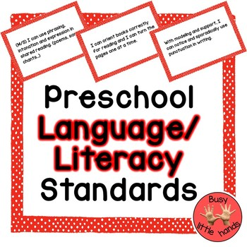 Preschool Language and Literacy Standards
