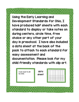 Preschool Math Standards (color)