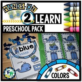 Preschool Colors Activities & Teachers Guide Bundle