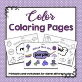 Preschool Colors- Color Coloring Pages