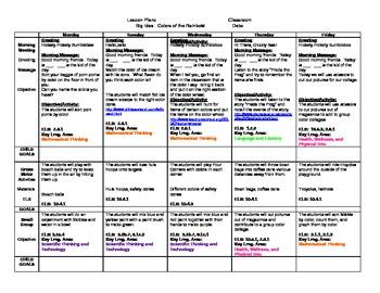 Preschool Colors Lesson Plan: Week One