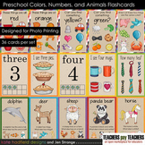 Preschool Colors, Numbers, and Animals flashcards (designed for Photo Printing)