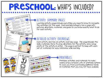 Preschool: Community {Plans and Printables}