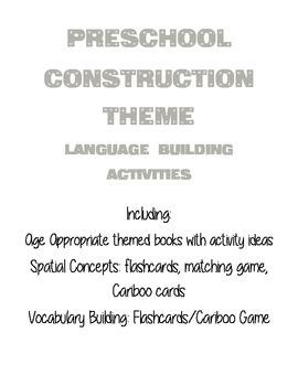 Preschool Construction Theme - Houghton Mifflin