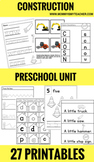 Preschool Construction Theme Unit Printables