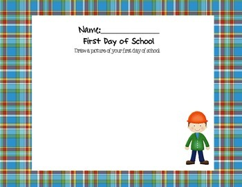 Preschool Construction Themed Portfolio