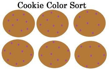 Preschool Cookie Color Sort