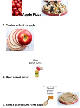 Preschool Cooking Lesson Apple Pizza freebie