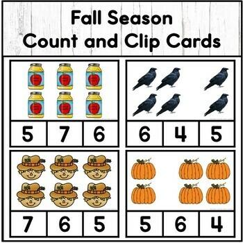 Preschool Count and Clip Cards 1-10 Bundle