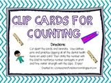 Preschool Counting Clips Game-Dental Health
