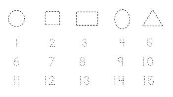 Preschool Counting Practice 1-15