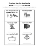 Preschool Counting Questionaire