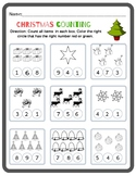 Preschool - Kindergarten Counting Worksheet (Christmas)