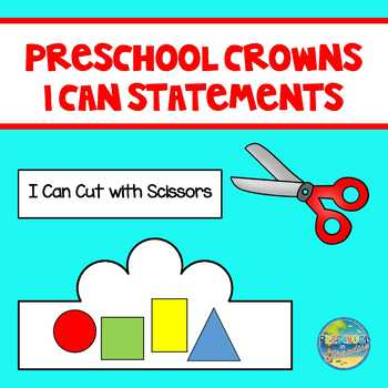 Preschool Crowns for I Can Statements