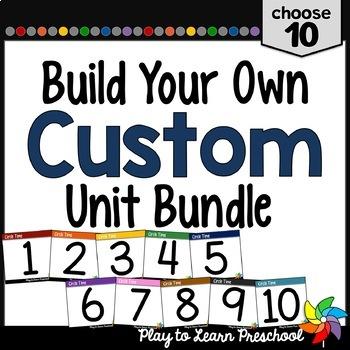 Preschool Curriculum - Create a Custom Bundle 10 pack