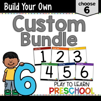 Preschool Curriculum - Create a Custom Bundle 6 pack