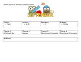 Preschool Curriculum Outline