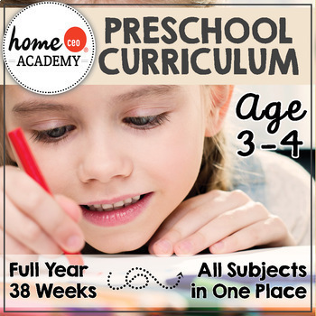 PRESCHOOL CURRICULUM (Age 3-4) - Complete Year Homeschool Preschool