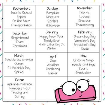 Preschool Curriculum: September-May