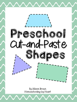 Preschool Cut and Paste Shapes