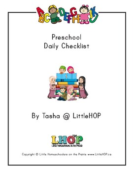 Preschool Daily Checklist (Islamic)