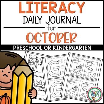 Preschool Daily Language Arts Journal - October