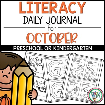 Preschool Daily Language Arts Journal - October