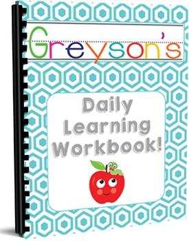 Preschool Daily Learning Workbook - Blue Cover