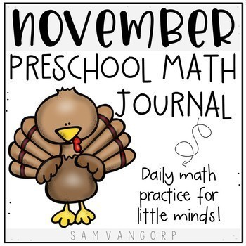 Preschool Daily Math Journal for the Year!  GROWING BUNDLE!