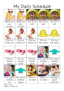 Preschool Daily Picture Schedule