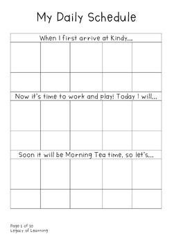 Preschool Daily Picture Schedule