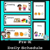 Preschool Pocket Chart Daily Schedule