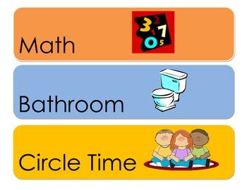 Preschool Daily Schedule Cards