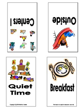 Preschool Daily Schedule Picture Cards