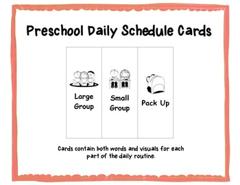 Preschool Daily Schedule cards