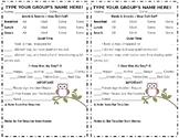 Preschool Daily Sheet - Owl