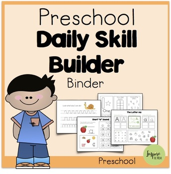 Preschool Daily Skill-Builder Binder (Suitable for Distant Learning)