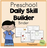 Preschool Daily Skill-Builder Binder (Suitable for Distant