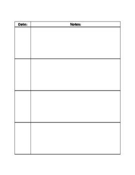 Preschool Data Forms